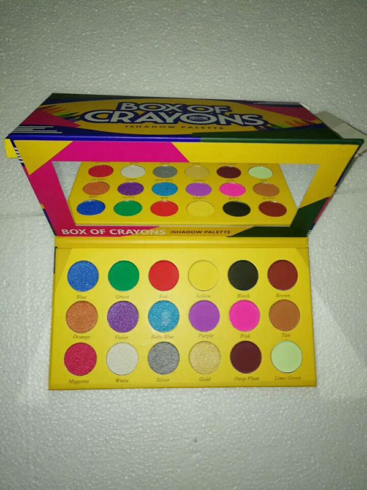 Box of Crayons iShadow Palette Cosmetics Shimmer & Matte Eye shadow Palette DHL free