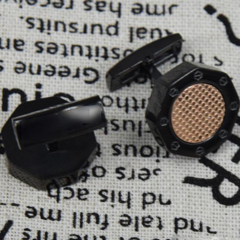 Hommes boutons boutons boutons de manchette en acier inoxydable manchon manchette manchette homme boutons de manchette homme de bonne qualité giste de manchette française octogone