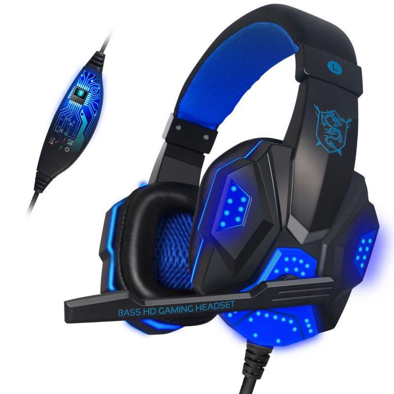 ONIKUMA PC780 Wired Gaming Headphones 3.5MM HIFI Bass Stereo Gaming Headset  LED Flashing Headphone With MIC USB Plug Running Headphones Waterproof ... df440397093f