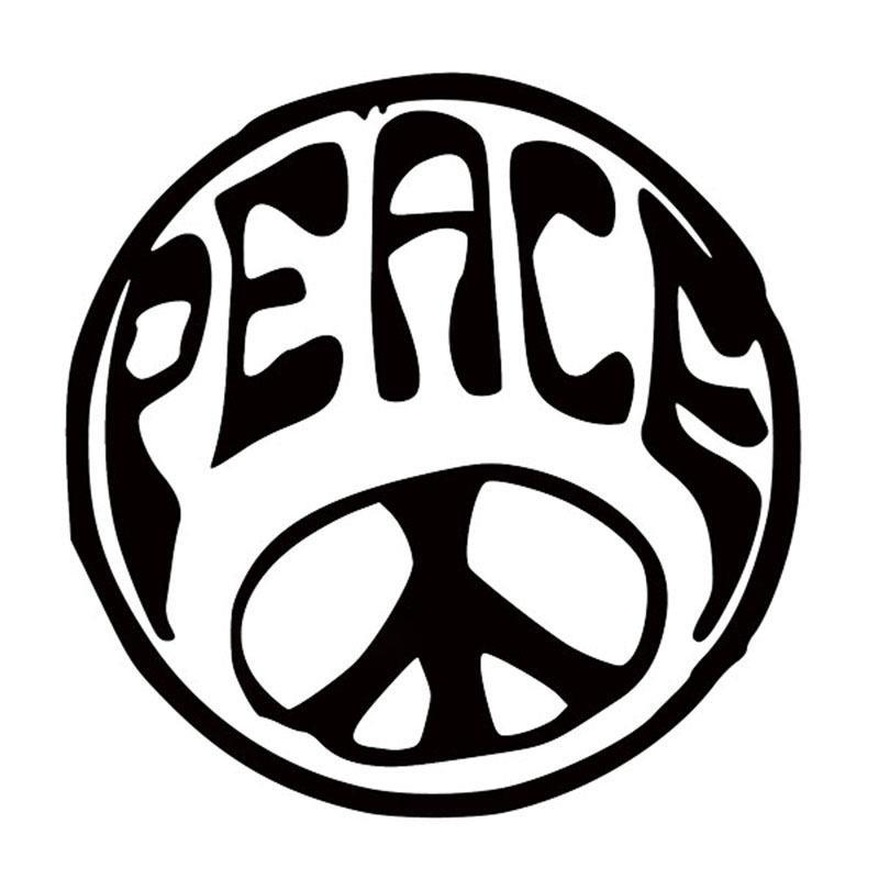 2019 Hotmeini Wholesale Peace Circle Car Sticker For Truck Window