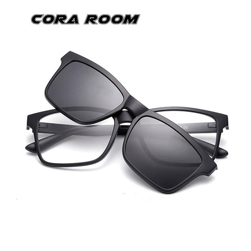 5d259dbbdf1d New Men And Women Ultra Light TR90 Glasses Frame + Polarized Clip ...