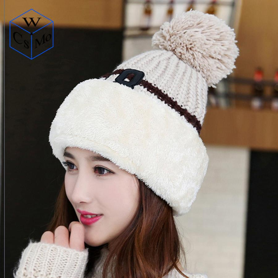 1ad72626cb7 2019 Knit Cap Scarf Cap Two Piece Winter Hats For Women Fur Winter Beanie  Fleece Hat Balaclava With Neckwa Rmer From Hougo