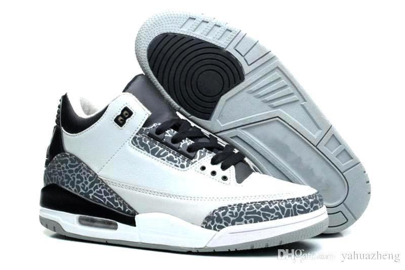 new style f037c 55d9b Acquista Nike Air Jordan Aj3 Nuovo Arrivo 3 3s Scarpe Da Basket Nero  Cemento Uomini Linea Libera Throw Blue Fire Red Katrina Jth Sneakers Ci 7  13 A  108.55 ...