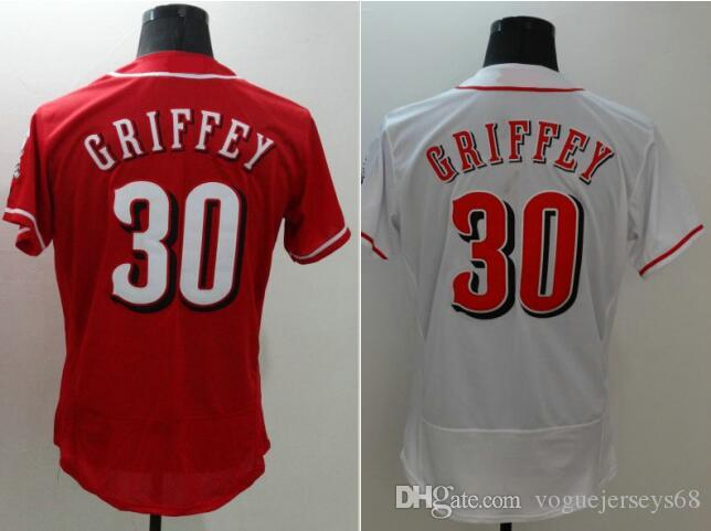 2018 New Mens 30 Ken Griffey Jr Vintage Stitched Embroidery