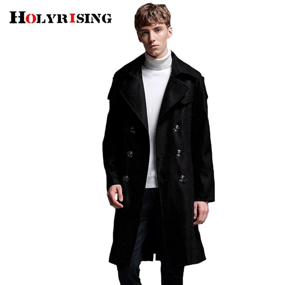 Holyrising Wollmantel Männer 70% Wolle Homme Mantel Zweireiher Mann Mäntel und Jacken Casual Slim Topcoat 3 Farben S 6XL 18553 5