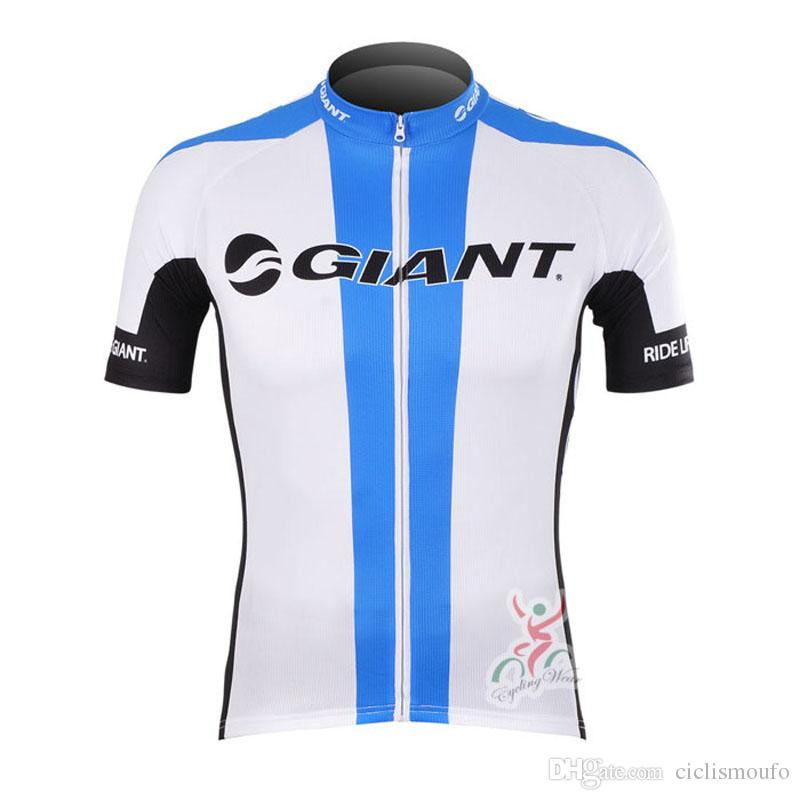 GIANT team summer mens short sleeve cycling jersey Breathable Quick dry bike Clothes MTB clothing bicycle Maillot 52809