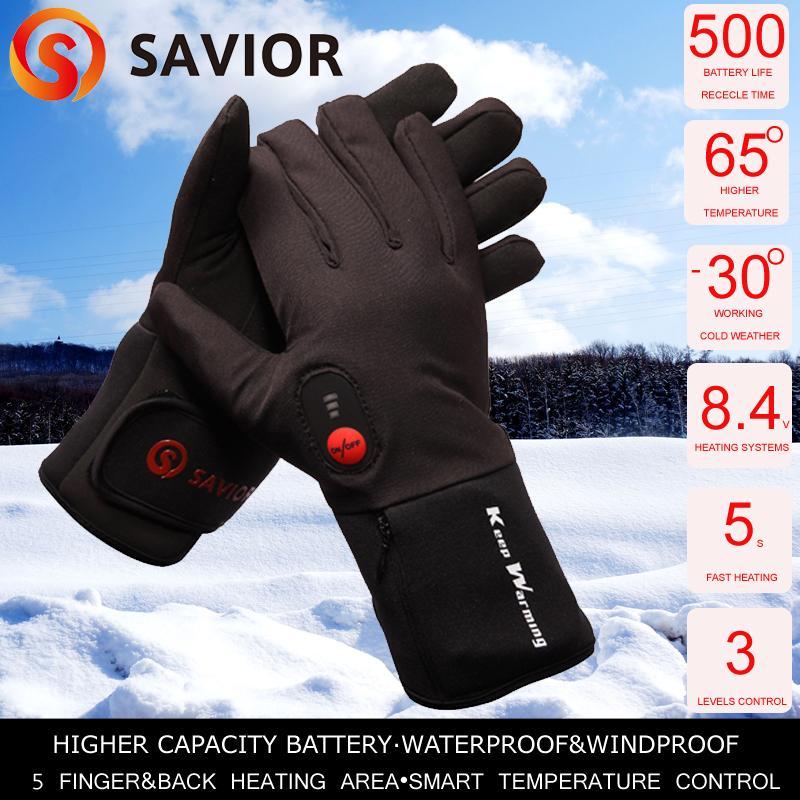 S beheizt batteriebetrieben Winter Thermo Elektrisch beheizbare Handschuhe Gr Handschuhe Damen