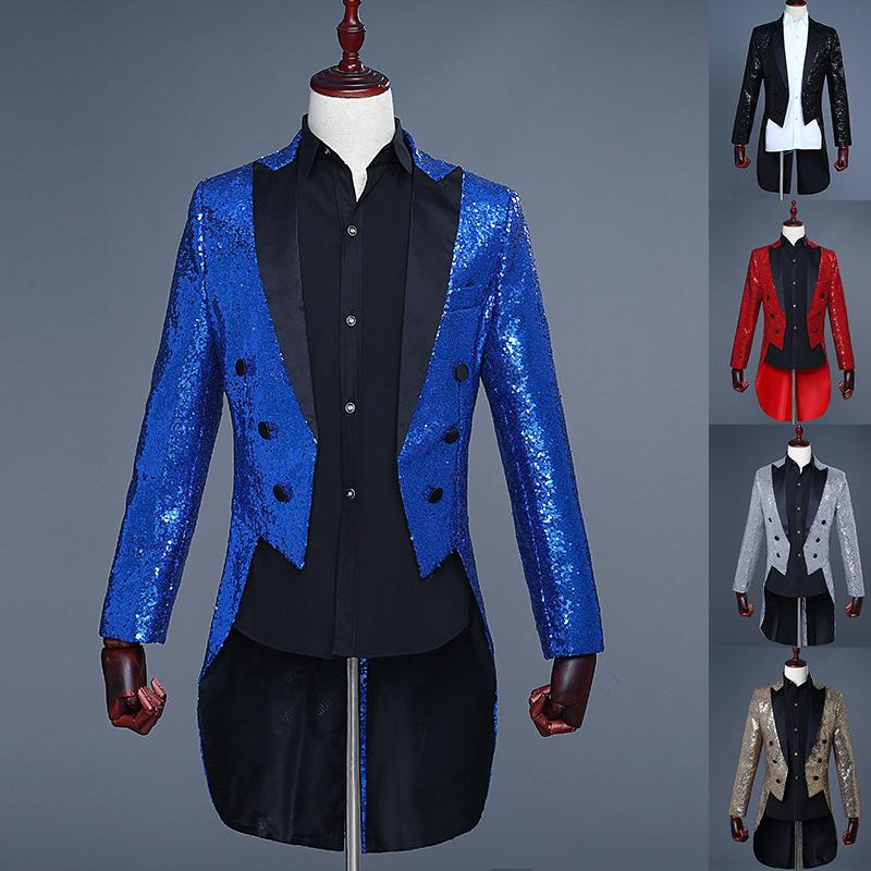 Paillette Male Master Sequins Tuxedo Stage Costumes Men Terno Suit MC Host  Clothing Singer Suits   Blazer Show Jacket Outerwear UK 2019 From Elseeing 78acbe89a533