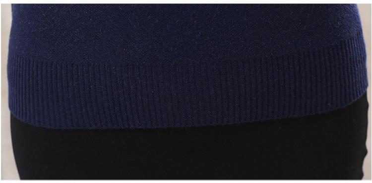 2018 Femmes Pull Pulls D'hiver Floral Dame Cachemire Tricoté Tops Tuniques Pull Femme Mujer Bleu Rouge Marron Plus La Taille M ~ 4XL