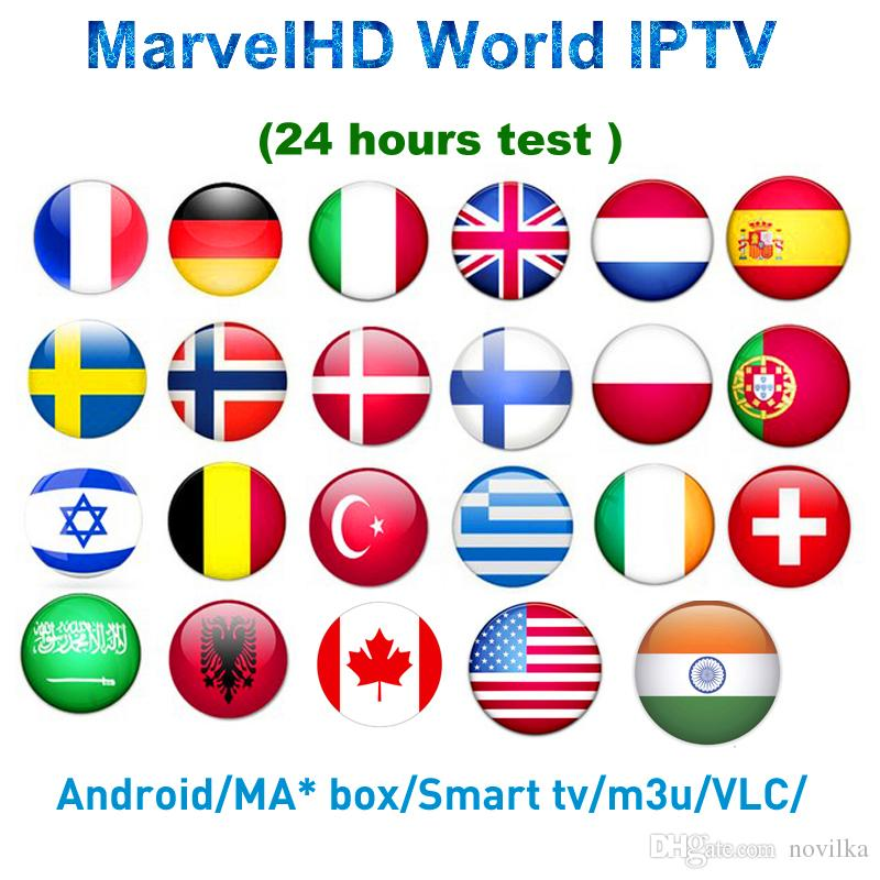 World IPTV Subscription Android 7 1 tv box Nordic Dutch France Spain UK  Swedish USA iptv Adult xxx Smart set top TV box