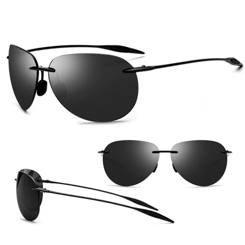 Compre Ultraleve Ultem TR90 Sem Aro Óculos De Sol Dos Homens Masculino De Alta  Qualidade Aviador Espelhado Aviação Óculos De Sol Para As Mulheres Nylon ... 025754b566