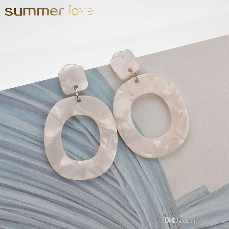 2019 Fashion Big Vintage Geometric Cellulose Acetate Dangle Earring For  Women Acrylic Oval Hoop Pendants Hoop Gift Jewelry From Klfashion 0ca239fa274d