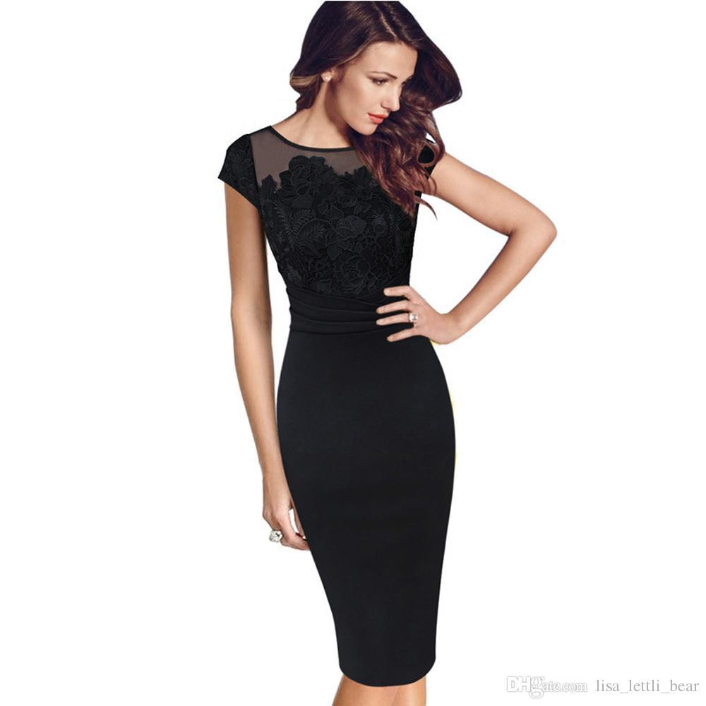 9745a166f783 2018 Fashion Sexy Midi Dress Women Black Sexy Embroidery Vestidos Dress Cap  Sleeve Bodycon Pencil Dress MT1398 Tight White Dresses For Juniors Cocktail  Wear ...