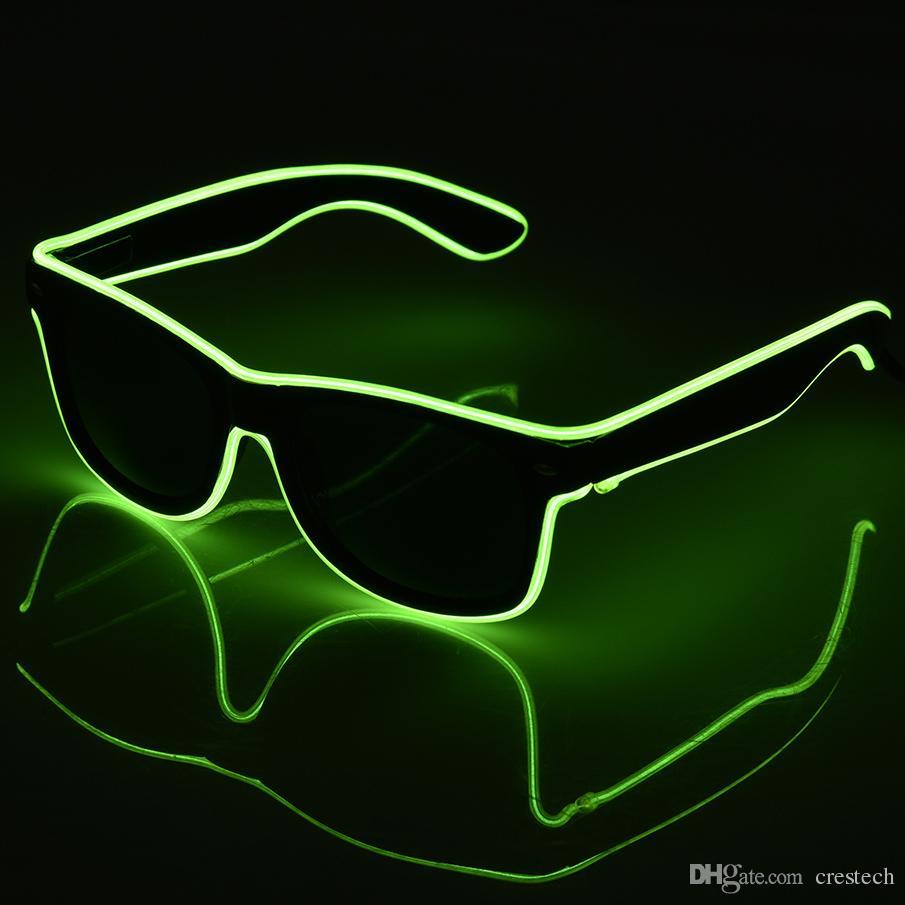 9c1730915565 2019 LED Glow Flashing Light Up Party SunGlasses LED EL Wire Led ...