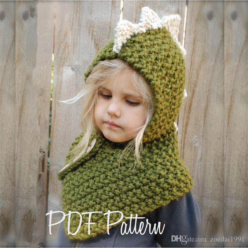 f53d1181759e6 2019 Puseky Children Hat Thickening Dinosaurs Warm Earmuffs Collar Hat Head  Set Baby Boom Cloak Knits Baby Girl Cap Touca Infantil From Zoedai1991
