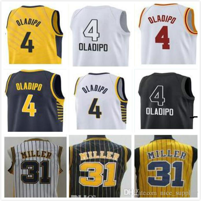 1625df6d8 Free DHL 2018 New Men 4 Victor Oladipo 31 Miller Stitched Jerseys ...