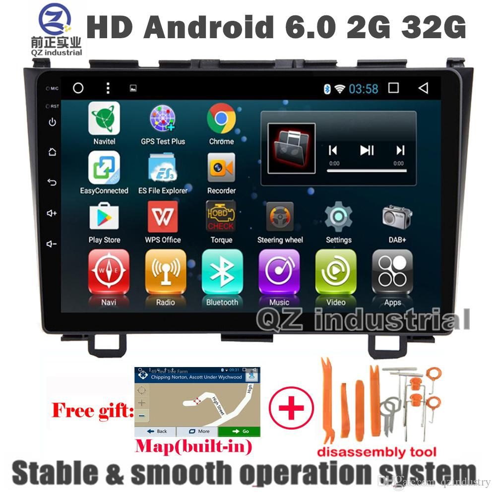 QZ industrial HD 9inch Android 6 0 car dvd player For Honda CRV CR-V  2006-2011 with GPS 3G 4G WIFI Radio Navigation BT SWC RDS free map