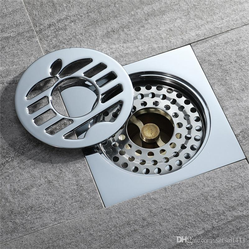 2019 Floor Drain Cover 4 Inch Shower Waste Drainer Brbathroom Kitchen Special Floor Drains For Washing Machine Bath Accessories From Setsail411