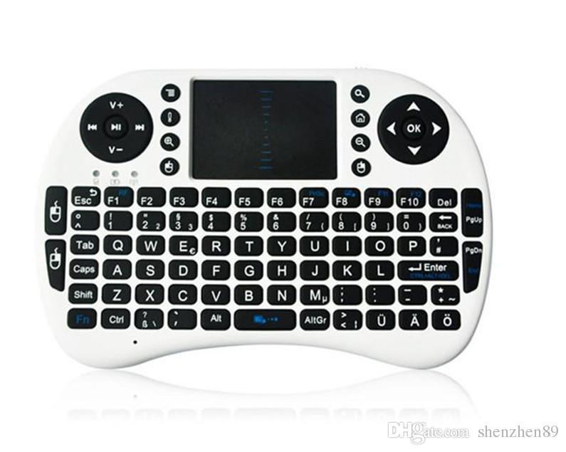 미니 무선 키보드 Rii i8 2.4GHz 에어 마우스 키보드 원격 제어 터치 패드 안드로이드 박스 TV 3D 게임 태블릿 PC 용