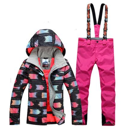 New GSOU SNOW Women S Ski Suit Outdoor Thick Warm Windproof Waterproof  Breathable Ultra Light Ski Jacket+Ski Trousers Size XS L UK 2019 From  Longanguo a2a5fcb93