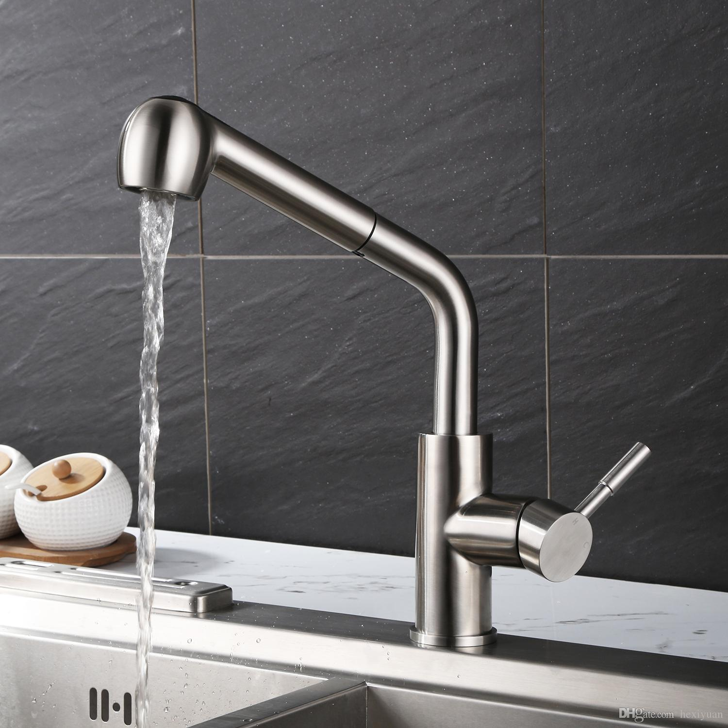 304 Stainless Steel Kitchen Faucet Draw Sink Sink Hot And Cold