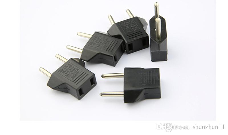 Hot Selling!US USA to EU Euro Europe Power Jack Wall Plug Converter Travel Adapter 100PCS free shipping OTH265