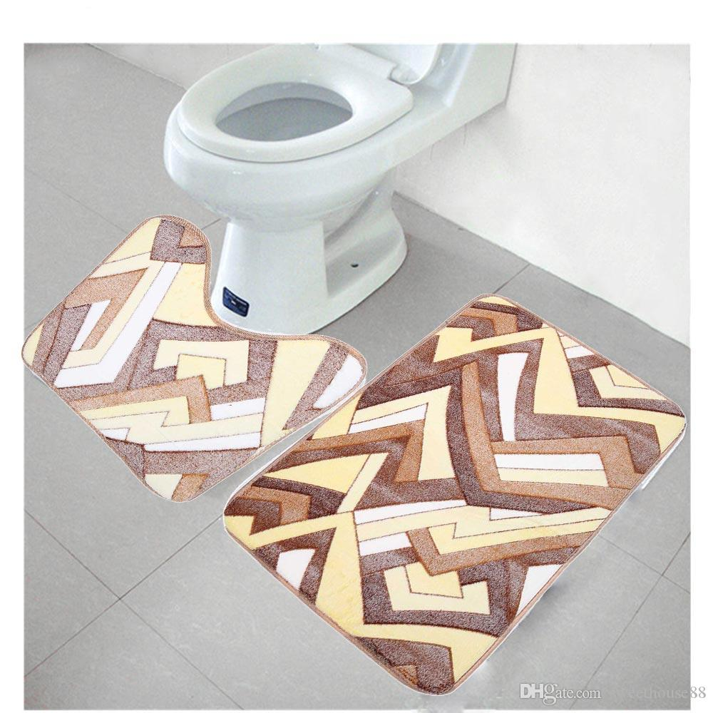 Best Bathroom Mats Set Bath Mat Coral Fleece Floor Memory Foam Rug Mats Kit  Toilet Pattern Non Slip Carpet Mattress Bathroom Decoation Hot Under $14.38  ...