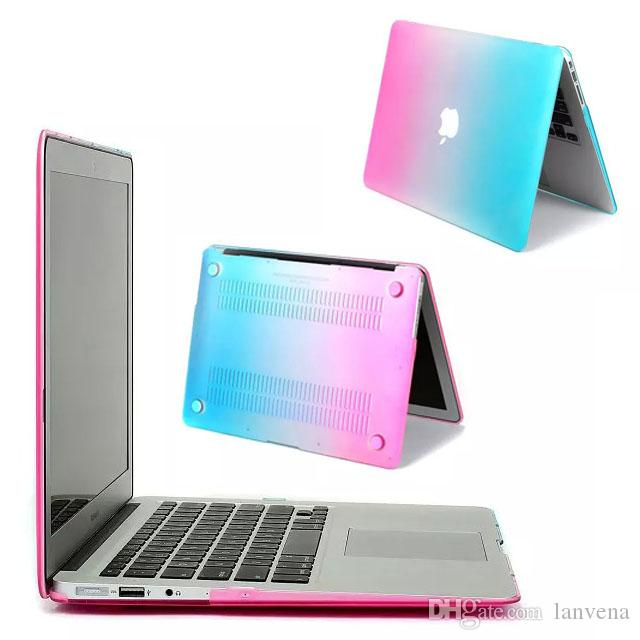 cheaper 212a0 68ef6 Colorful Rainbow PC Protective Hard Case For Apple Macbook Air 11-inch Mac  Book ABS Front and Back Cover