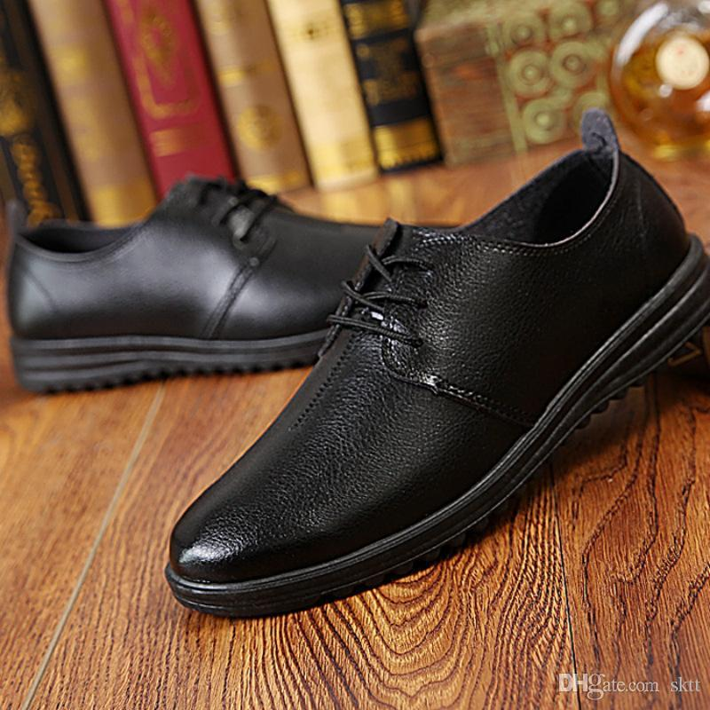 Men's Shoes Enthusiastic 2018 New Mens Dress Leather Shoes Fashion Men Wedding Dress Shoes Comfortable Breathable Mesh Mens Banquet Leather Shoes