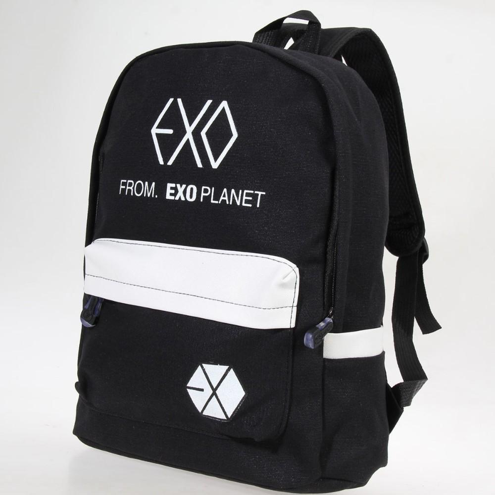 Backpacks Exo Fromplanet Kris Luhan Sehun Canvas Travel Bag Schoolbag Backpack New