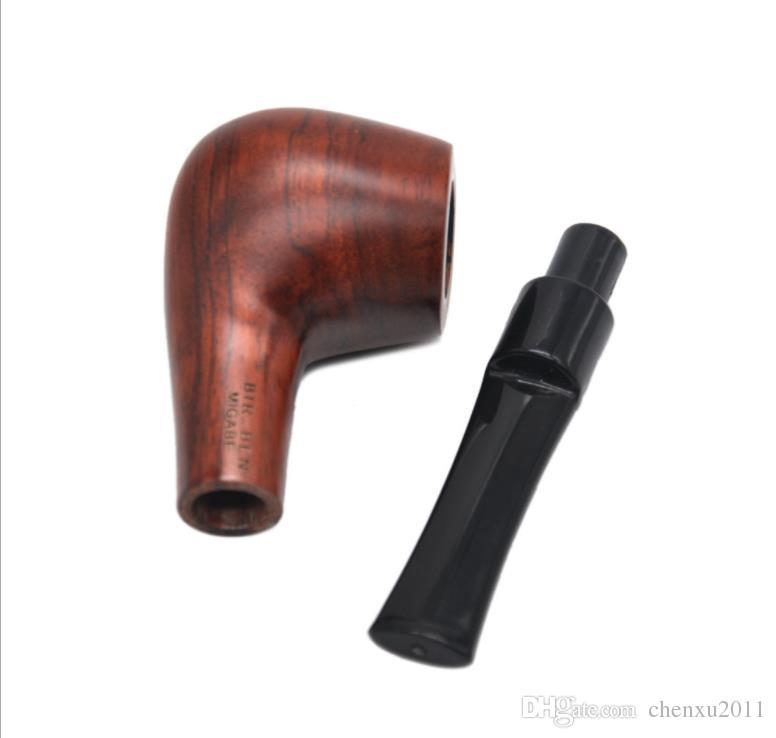 Легкий ручной для очистки труб красное сандаловое дерево, черное дерево труба, прямая ручка набор сигареты, трубки.