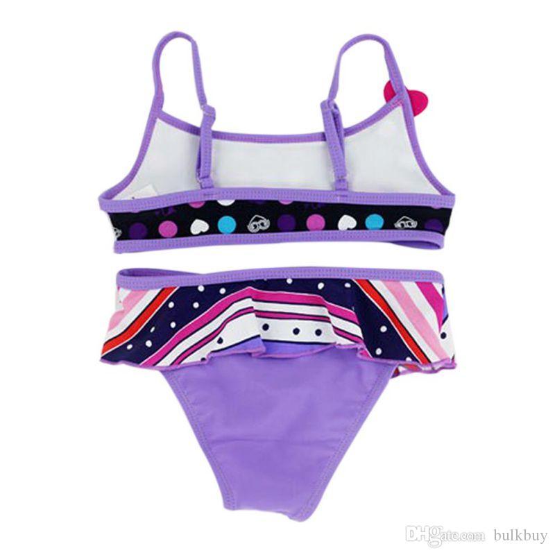 Summer Girls Split Maillots de bain pour enfants maillot de bain deux pièces Bikini bébé Floral maillot de bain fille Beachwear