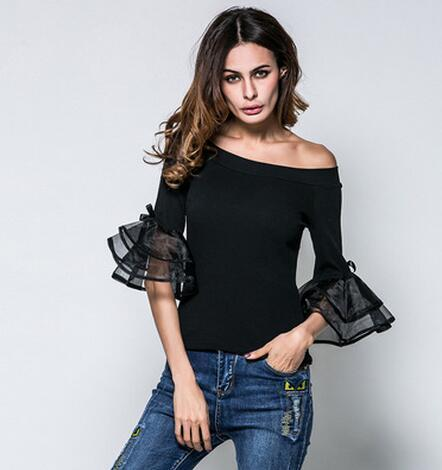 b1c6c8a66ce 2019 2018 New Women Knitted Sweater Fluffy Long Sleeve Jumper Fashion Sexy  Slim Off Shoulder Knit Shirt Female Blouse M XXL From Sexystores520