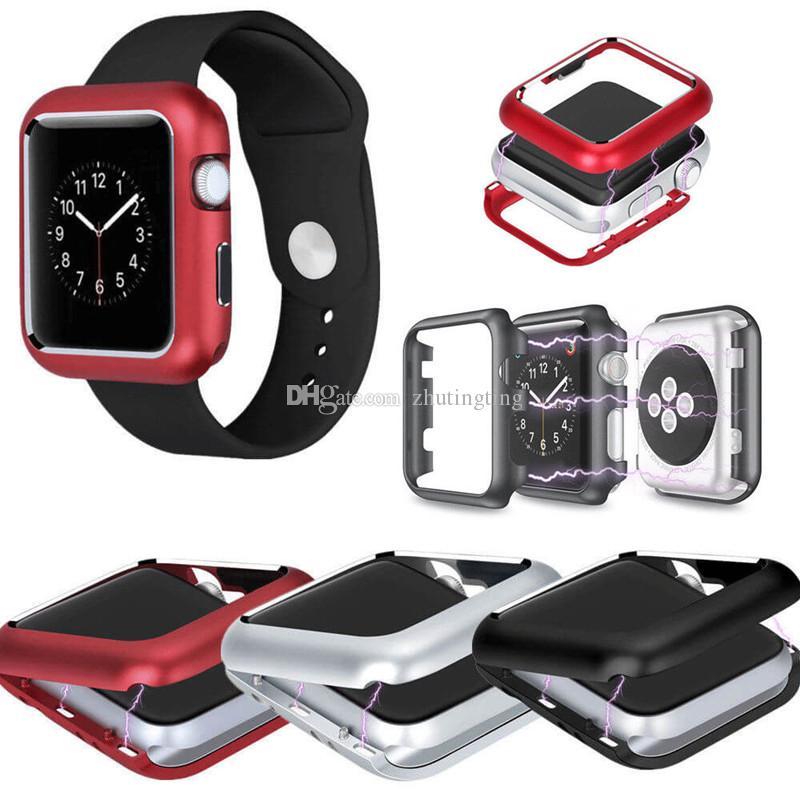 79a4a1a54cd Compre Para A Apple Watch Série 4 40 44 Mm Case Adsorção Magnética De Metal  Capa Protetora Para Apple Watch 2 3 38 42 Mm De Zhutingting