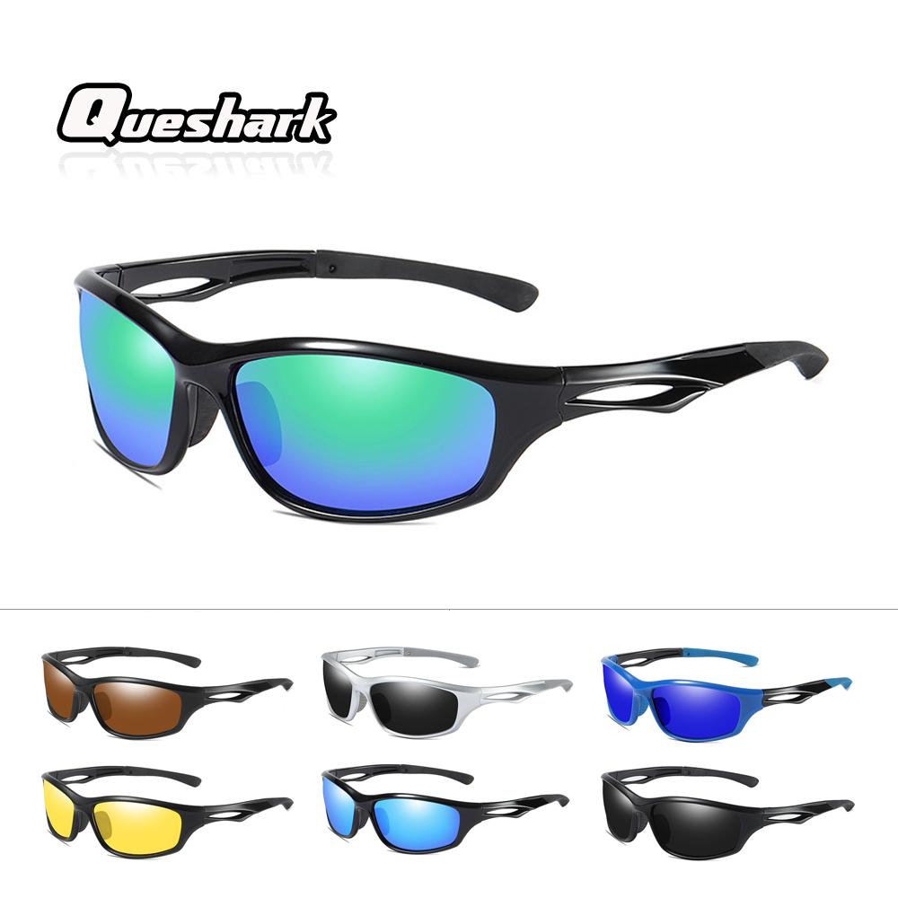 3db2017e32 2019 Queshark Professional HD Polarized Cycling Glasses Women Men Outdoor  Sports UV400 Night Vision And Day Vision Driving Sunglasses From Cbaoyu