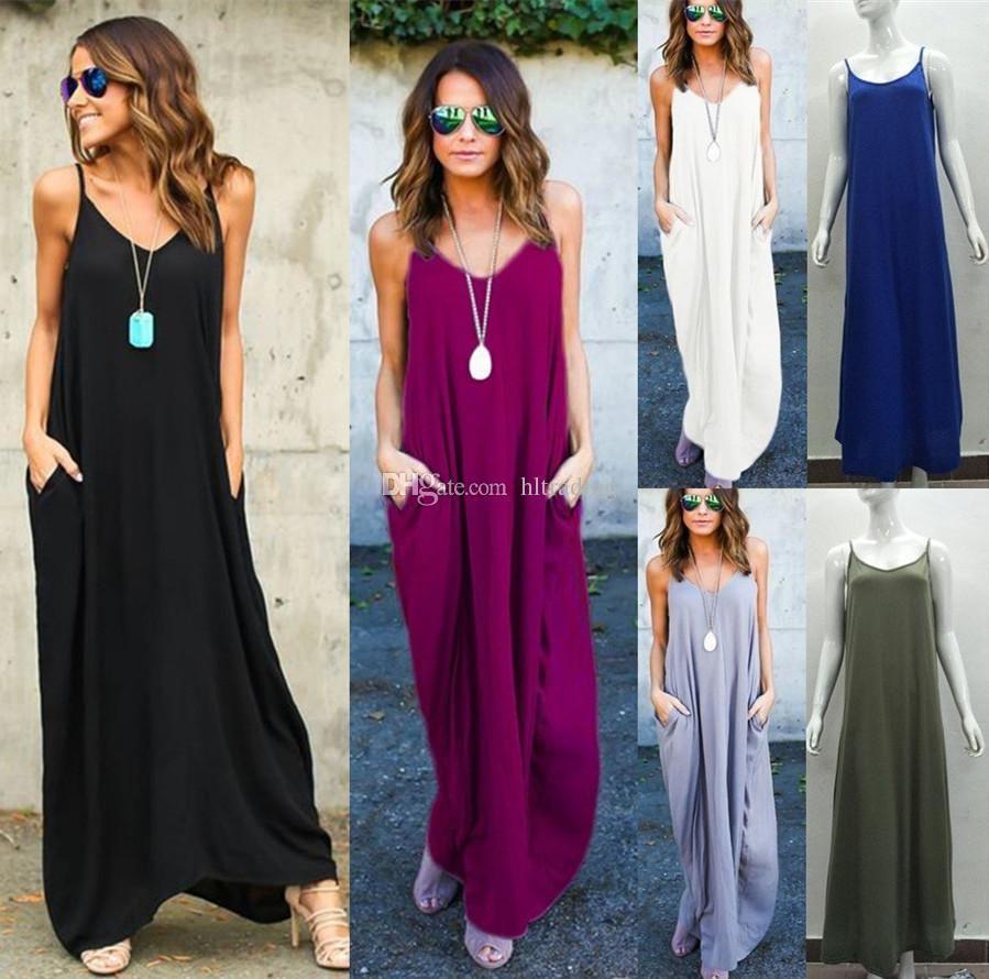 3ca3d6310f1 Women Sexy Boho Dress Evening Gown Party Dress 2018 Summer Beach ...