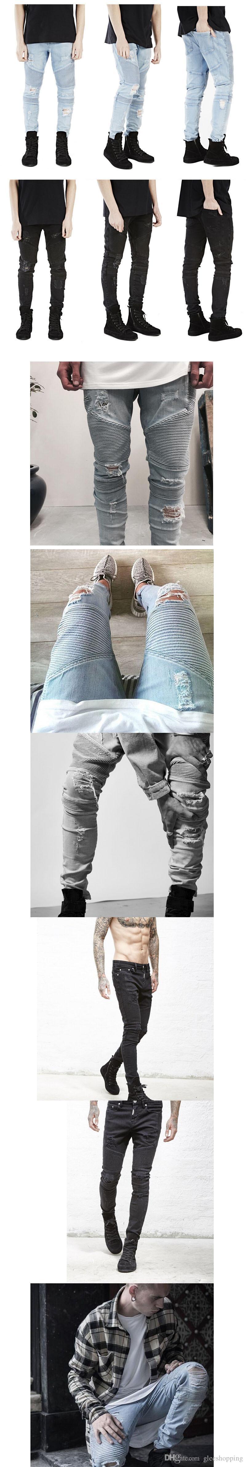 Новые Известные Брендовые Мужские Джинсы Узкие Плюс Размер Disel Дизайн Тонкий Прямой Жан Мужской Разорвал Джинсовые Брюки Поддельные Дизайнерская Одежда