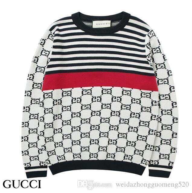 Großhandel Gucci Herren Leisure Sweaters Luxuriöse Stickerei Pullover  Hochwertige Pullover Langarm Pullover Strickpullover Solid Color Shirt Von  ... c948de48a1