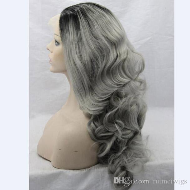 Großhandel 26 Lange Ombre Grau Perücken Natürliche Günstige Haar