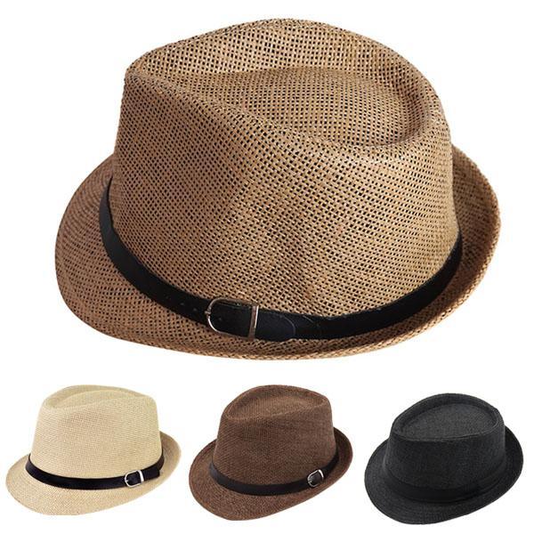 79df676559a6e Compre Hombres Mujeres Sombrero Fedora Straw Jazz Sunhat Sun Bonnet Summer  Beach Panama Cap Bb55 A  25.57 Del Teawulong