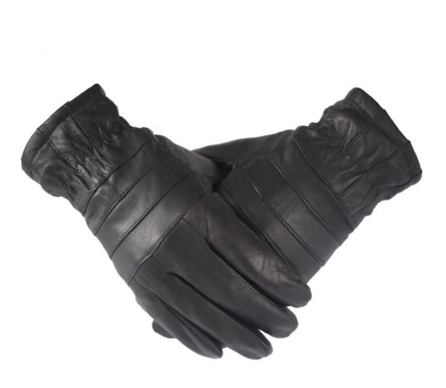 ef52bbead 2017 New Warm Winter Genuine Leather Men's Gloves Warm Driving Goat ...