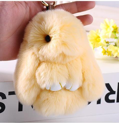 8b721f786 2019 Cute Dolls Toy Rex Rabbit Fur Keychains 14 Cm Pendant Bag Car Charm Fluffy  Bunny Keychain Fur Monster Girlfriend Gift Key Chain From Fashion show2018