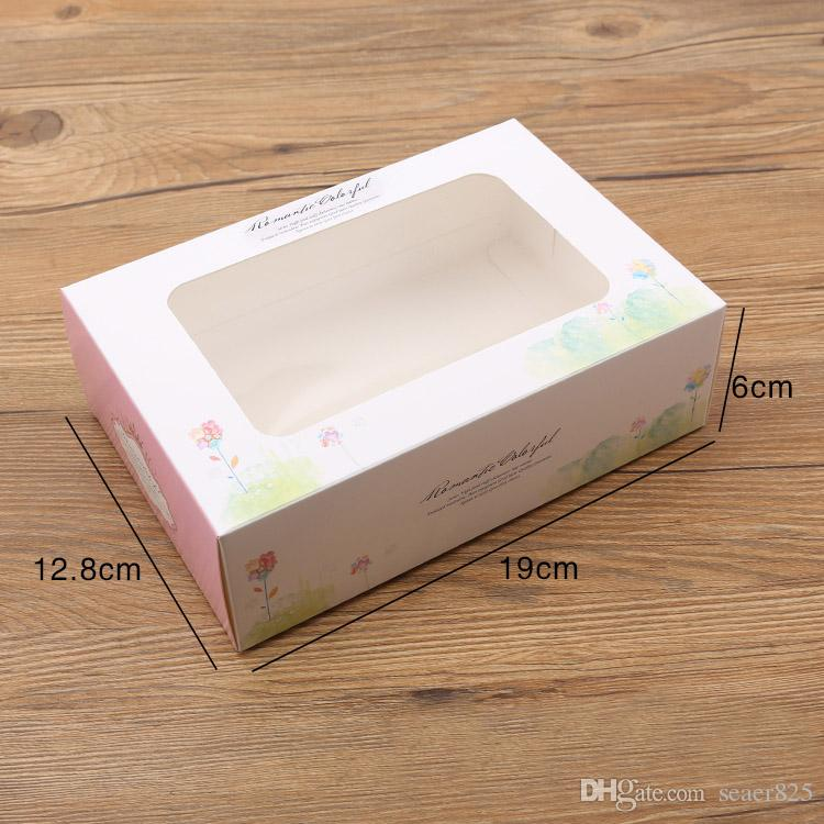 cupcake boxes with window Pink paper Boxes Dessert Portable Package Mousse cup cake box muffin packaging supplies wholesalers