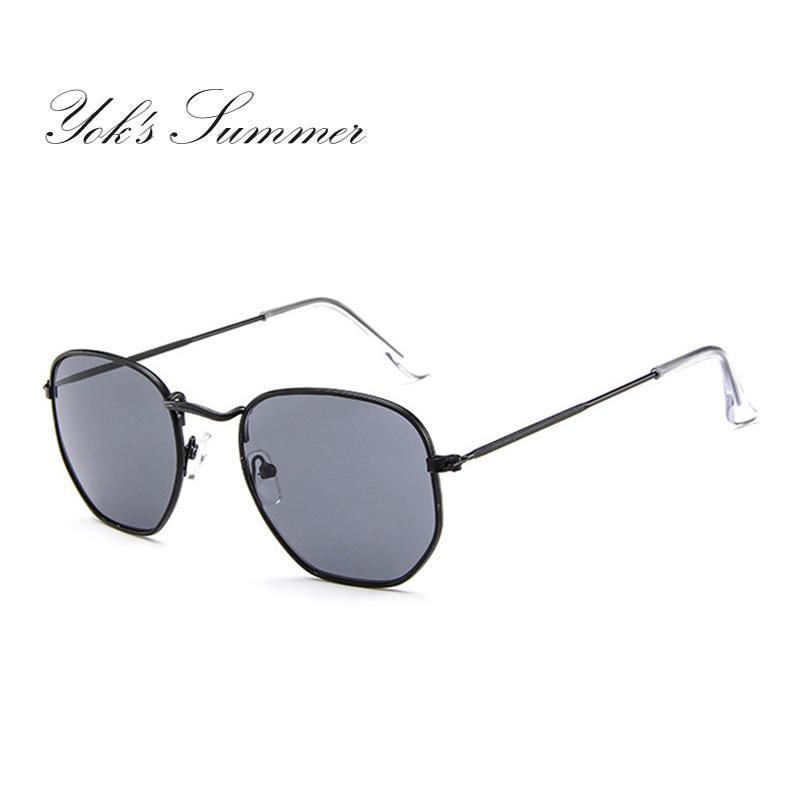 2e11cc2629 Yok s Hexagonal Premium Mirror Sunglasses Modern Women Fashion ...