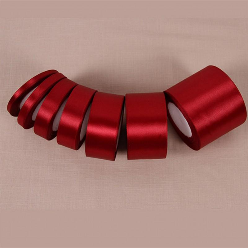 6ceaf2f84b 2019 Wine Red Silk Satin With Gold Wedding Party Decoration Wrapping  Christmas New Year Apparel Sewing Fabric Gift Ribbon From  Home furnishing88