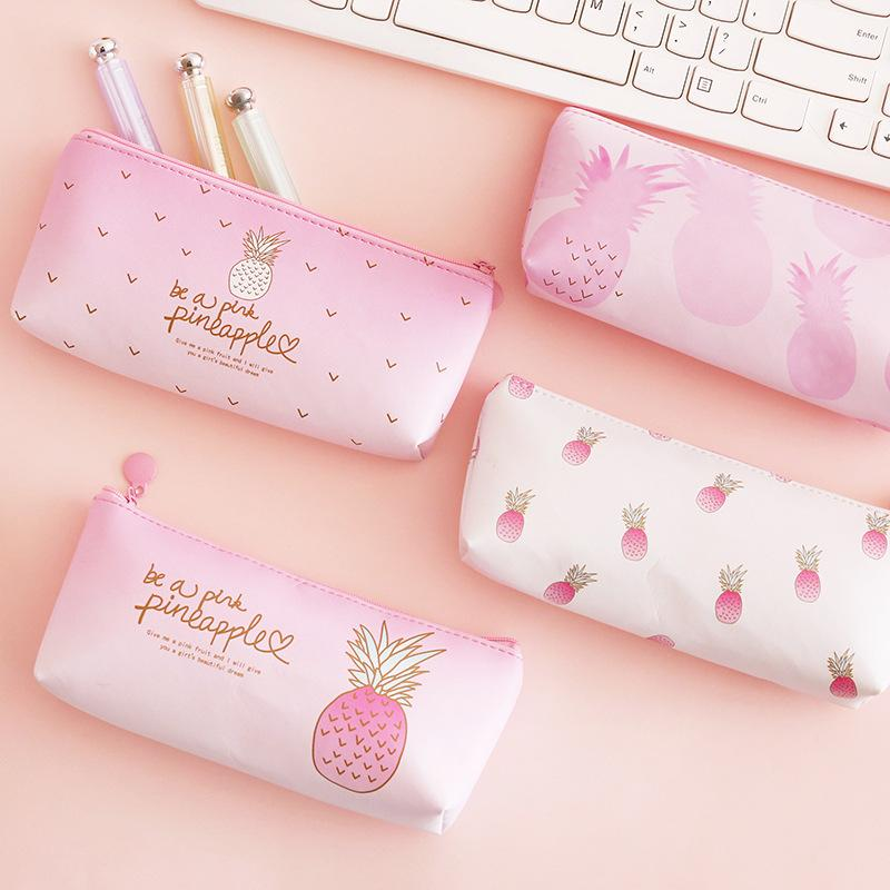Office & School Supplies Strong-Willed New Arrival 1pc Cartoon Plastic Creative Button Writing Pencil Box Students School Supplies File Folder