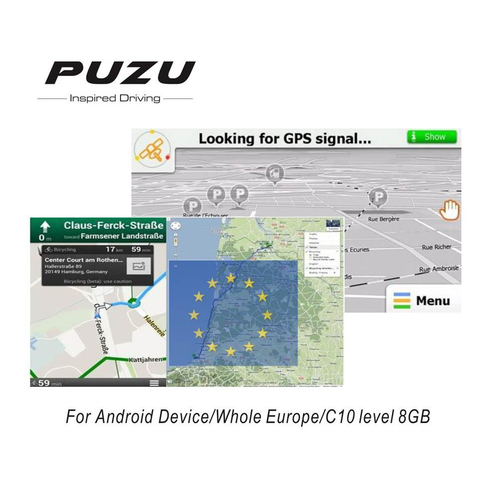 Europe Gps Map With 8g Sd Card Russia Spain France Germany Italy Uk
