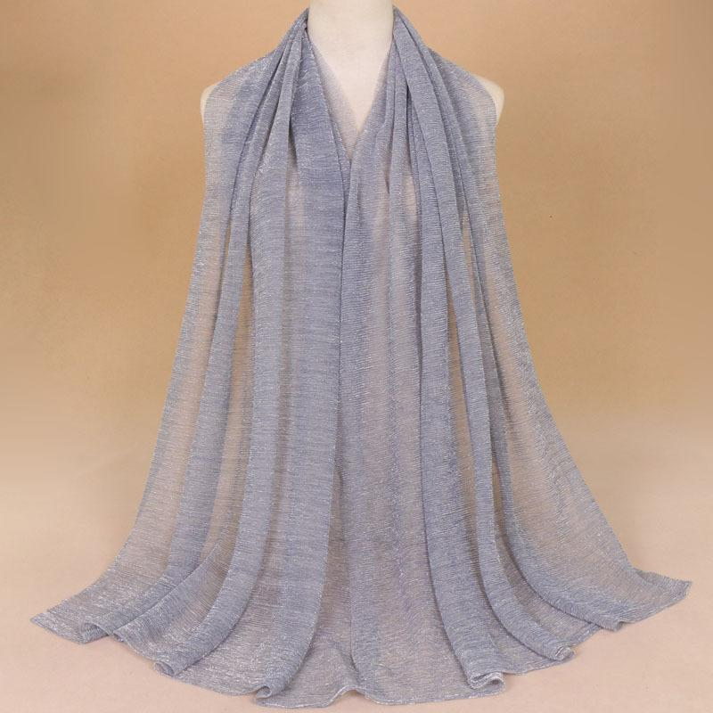 652e2a67043 75 200cm Long Women Shawls Shawl Golden Wire Muslim Hijab Chiffon Wrap Hot  Sale Mujer Bufanda Scarf Scarves Bandana Man Bandana Style From Melontwo