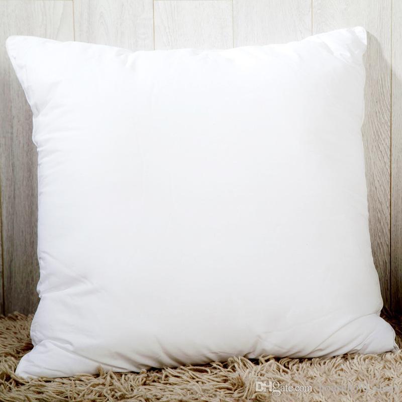 Sublimation Taie de transfert de chaleur d'impression d'oreiller Couvertures vierges 40x40cm Coussin oreiller sans taies d'oreiller de polyester insert