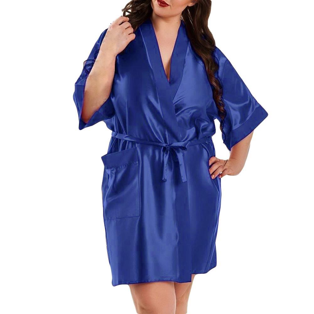 d325b35ca787 Robe femme mulheres robes de dama de honra cetim dressing plus size  lingerie babydoll noiva crianças roupão de banho batas de mujer